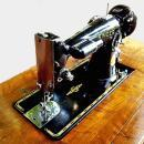 Vintage Singer 201-2 Sewing Machine with Art Deco Cabinet