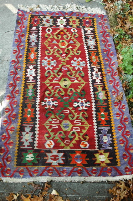 Turkish Tribal Prayer  Rug Vintage Hand Knotted Wool  66