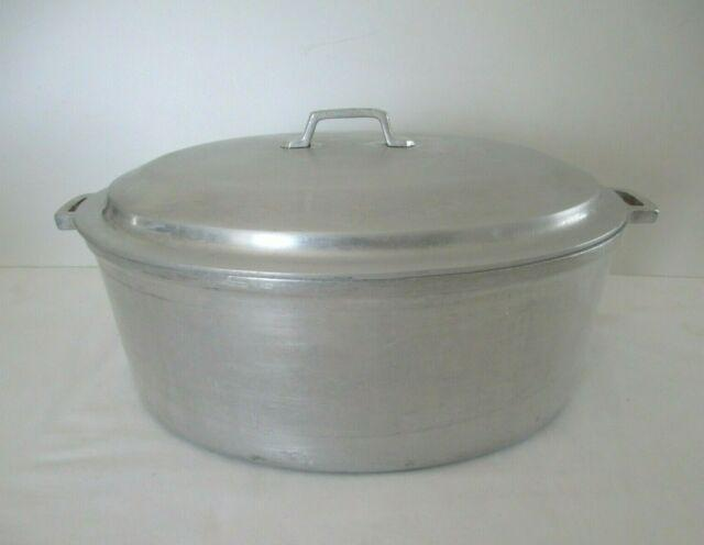 MIRACLE MAID COOKWARE OVAL CAST ALUMINUM ROASTER w/LID   Oven Roaster