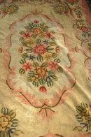 Hooked Wool Rug , antique floral area rug 106