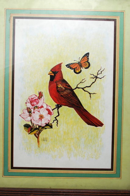 A.Gruero Cardinal Print, Limited Ed.   Framed behind glass  *** PRICE REDUCED!***