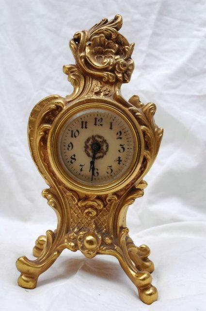 Art Nouveau  Metal  Boudoir Clock 1914