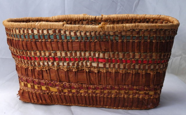 Makah Woven Cedar  Basket  Early 1900's Northwest  Native American Tribe