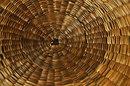 Native American Sewing Basket Splint Ash &  Sweet Grass Northeastern tribe