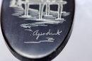 Scimshaw Baleen Earrings by Inupiaq artist :  Harry Apodruk  **REDUDED PRICE*!!