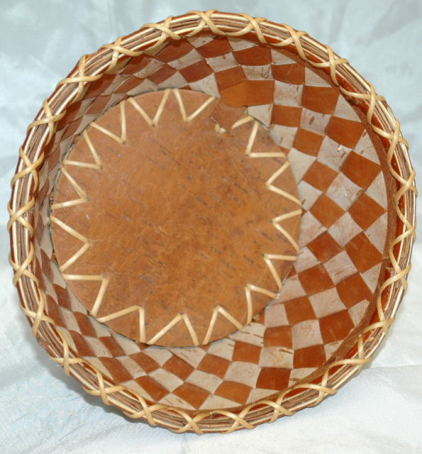 Birch Bark Basket Inupiaq Native  Alaskan  Large size  *** PRICE REDUCED!***
