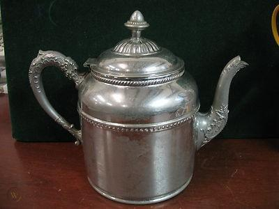 ANTIQUE ROCHESTER STAMPING COMPANY WORKS TEA COFFEE SERVICE  POT 1880'S
