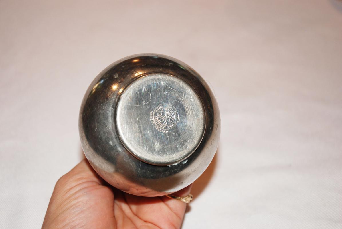 1950's Royal Holland Daalderop KMD Pewter Bud Vase 5