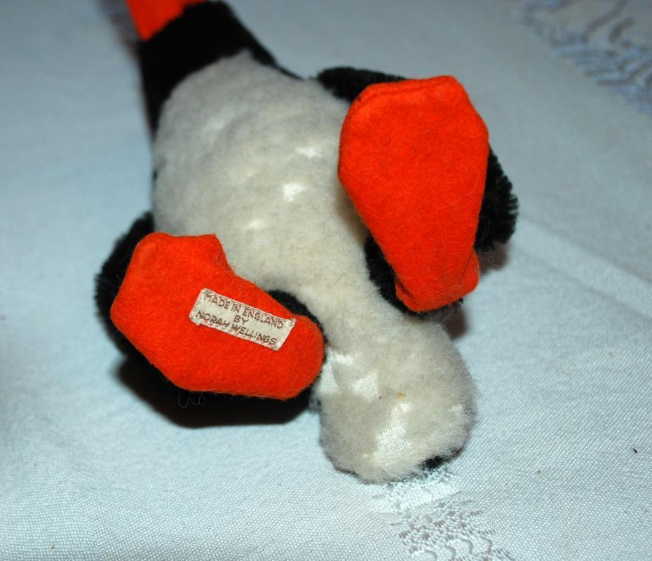 Rare English Norah Wellings  Mohair Penguin,  Early 20th Century