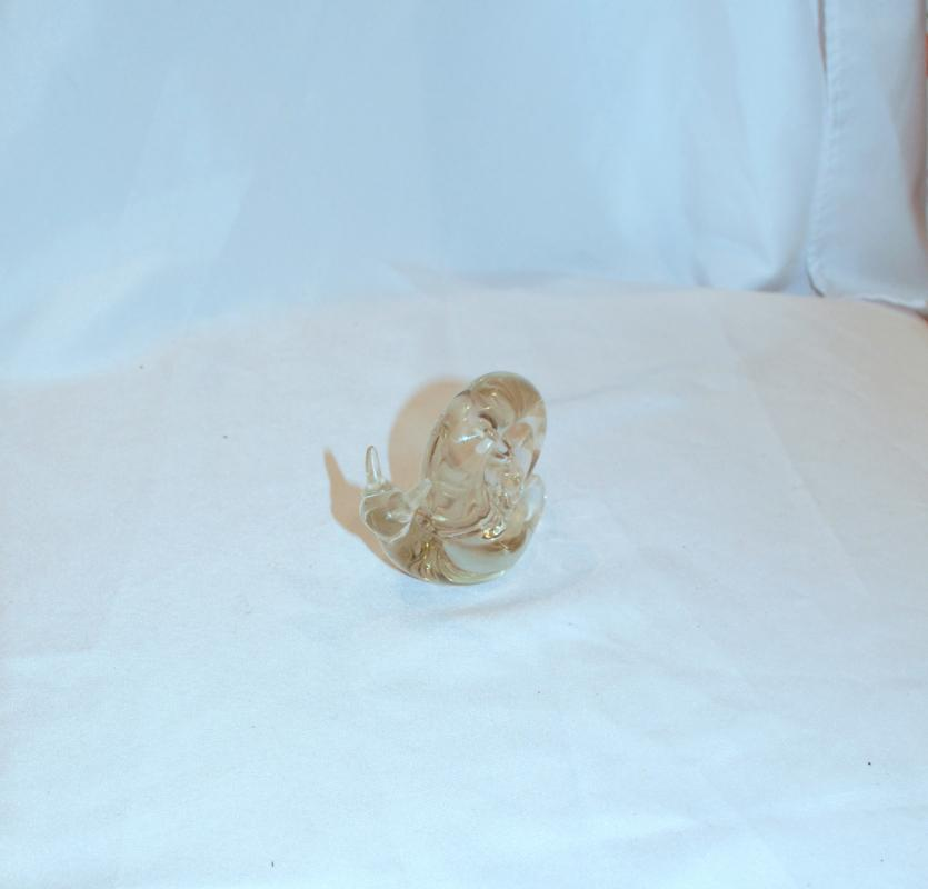 Blown Glass  Crystal Snail Paperweight Looks like Baccarat