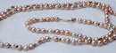 14K Gold Beads & Baroque Pearl Demi Parure Braclet & Necklace