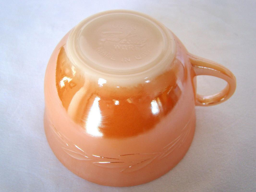 Vintage Fire King Anchor Hocking Peach Luster Laurel  Cup only
