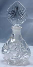 FULL LEAD CRYSTAL PERFUME BOTTLE, PRINCESS HOUSE GERMANY, WITH LABEL