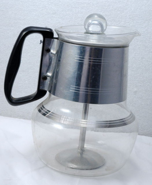 Silex 6-8 cup Glass Coffee Pot Percolator  Mid Century Modern