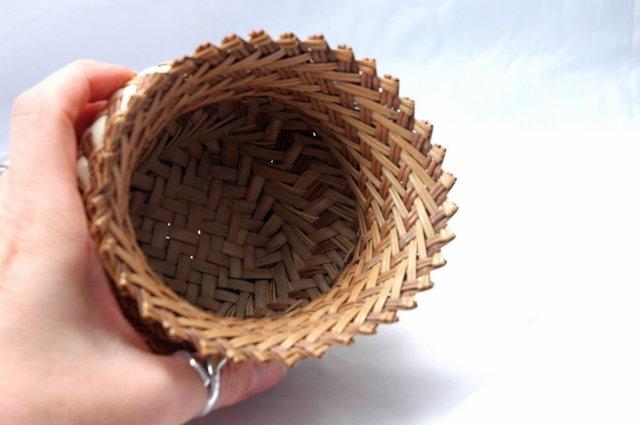 Tarahumara Indian Basket  Double Weave with unusual Pedestal Design.