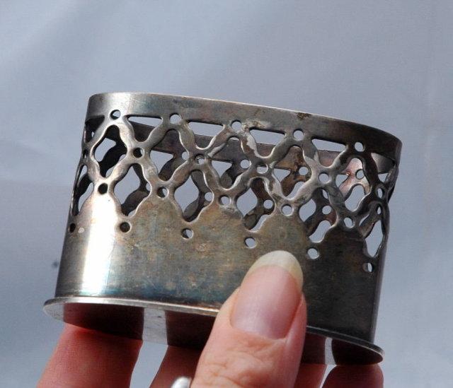 Denmark Silver Plate Holder Marked & Numbered  C Jensens Sølvvarefabrik