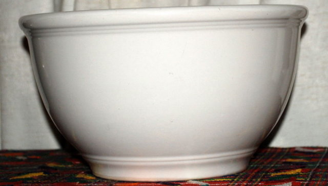 Heavy Stoneware Mixing Bowl 5 quart