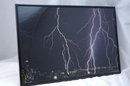 Lightning over Seattle Photograph Signed  & Framed Behind Glass