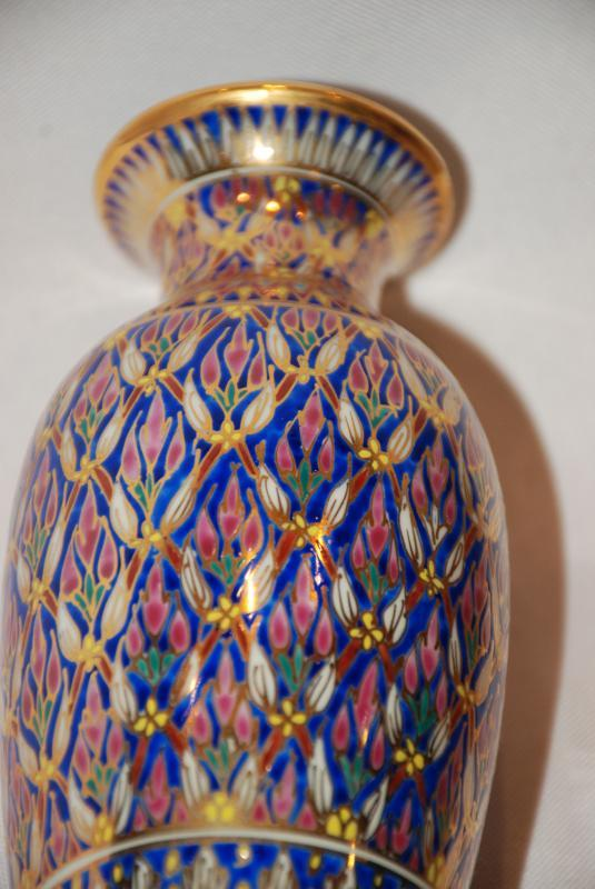 Benjarong Hand Painted Bone China Vase