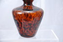 Glass  Perfume Bottle - Decanter Hand blown dark amber with spots