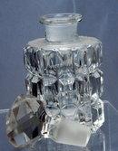Czechoslovakia Crystal Glass Perfume Bottle with Stopper
