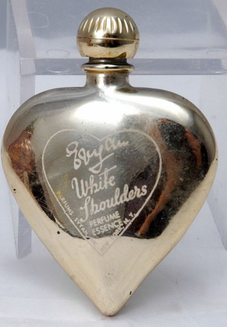 Vintage Heart Shaped    'White Shouldes',   PERFUME BOTTLE