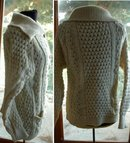 John Molloy /Ardara/LDT. Donegal Irish Fisherman's Cardigan Sweater   100% New  Wool- Vintage !