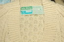 John Molloy /Ardara/LDT. Donegal Irish Fisherman's Sweater   100% New  Wool- Vintage !