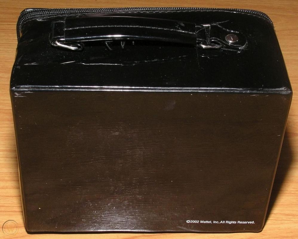 BARBIE  BLACK VINYL Zippered  LUNCH BOX