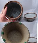 Stoneware Drink Dispenser Hand Crafted  Pedestal Pottery  Iced Tea  Retro Pottery