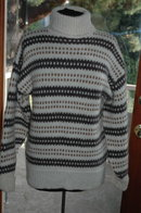 Norwegian Natural Wool Hand-knit Pull Over Sweater Euro Size 54