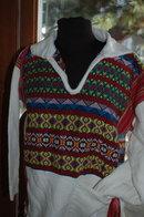 Guatemala Guatemalian Hippie Boho Pullover Shirt Top 60's 70's era
