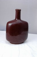 Brown Stoneware Ceramic Bottle Flask