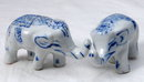 Blue White Porcelain Elephant PAIR Delft