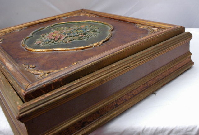 Victorian Wood / Glass Bon Bon Box  made into Jewelry box PRICE REDUCTION!