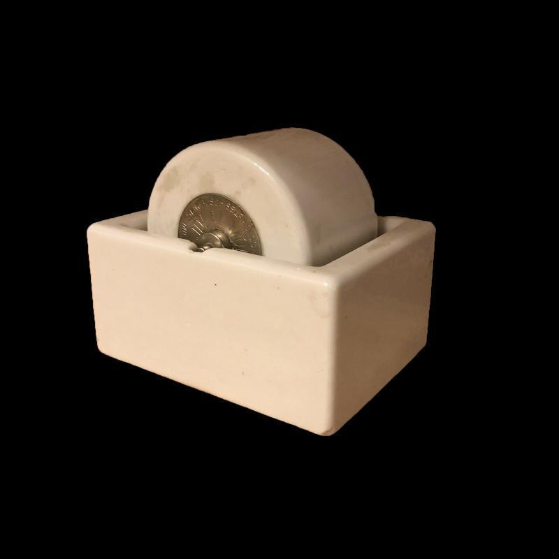 Sengbusch Vintage Ideal Moistener Stamp Envelope Wetter Roller White Porcelain