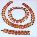 Vintage Matisse Renoir  Modernist  Copper Matching  Set, Belt, Bracelet, Necklace Vintage Signed