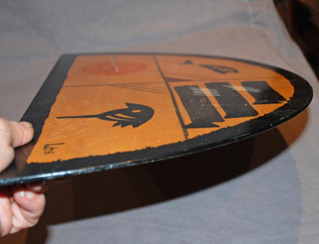 VINTAGE KAKADU HAND PAINTED WOOD PLACE MAT OR WALL ART Sign by REUT SHAHAR