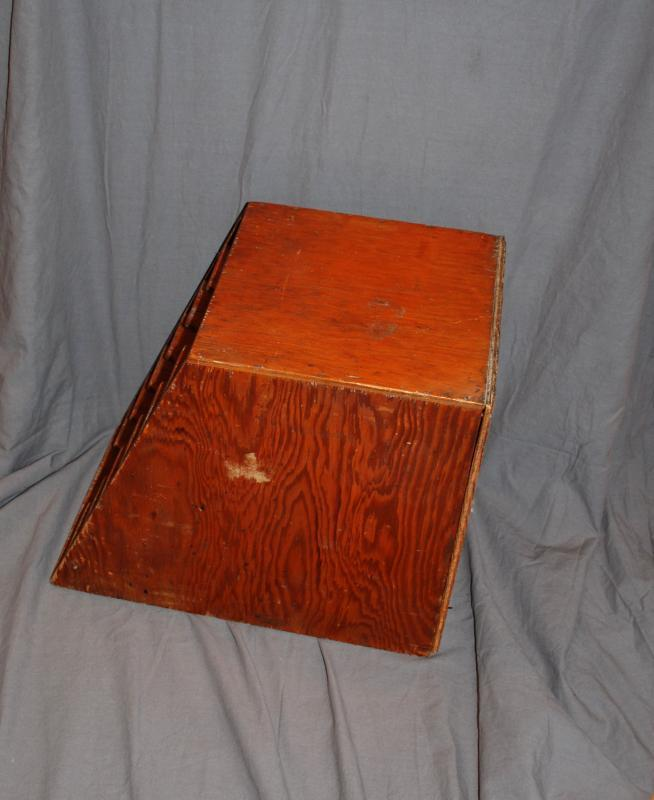 Antique Handcrafted Fir Wood Letter, Paper Organizer Tiered  Tower Tray Box   7  graduated shelves