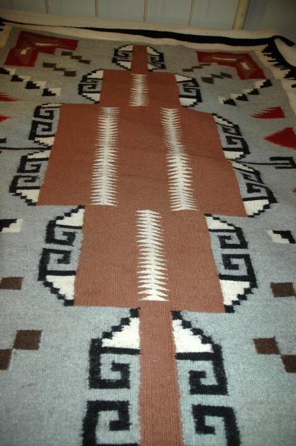 Beautiful Large Genuine Woven Wool Navajo Rug  65