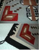 Beautiful Large Genuine Woven Wool Navajo Rug  65