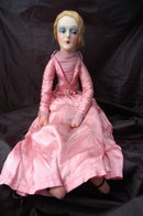 ANTIQUE FRENCH BOUDOIR BED DOLL  26