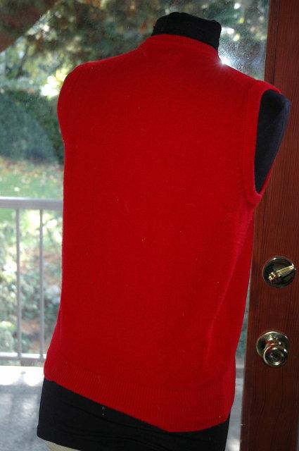 RED PGA V neck Sweater Vest