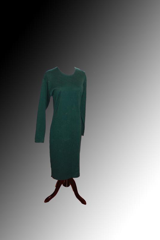 Vintage 90s  Teal Sweater Dress  by Kathryn Conover New York  size Small