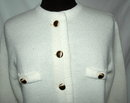Retro Vintage  White Cardigan Sweater Sidney Gould , for I. Magnin & Co.