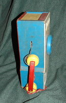 Playskool Vintage Wooden Telephone Toy Pay Phone