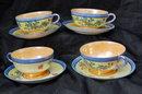 4 Fine Lusterware Porcelain Tea Cup/Saucer Sets Made in Japan
