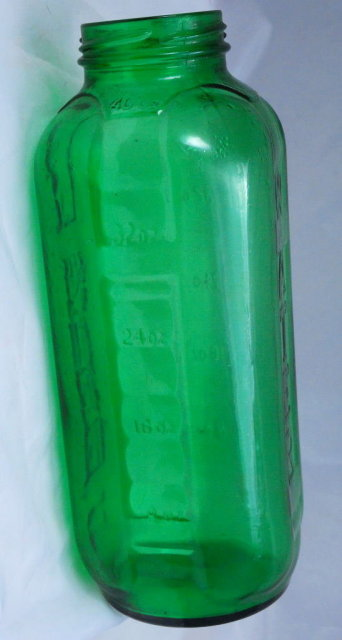 Anchor Hocking Vintage Green Glass Refridgerator Water Bottle