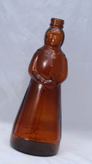 Old Brown Glass Aunt Jamima Syrup Bottle 10