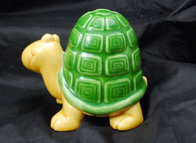 Whimsical Ceramic Turtle Bank Papel of California , made in Japan